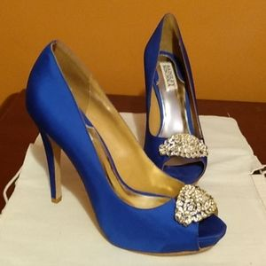 Badgley Mischka Royal Blue Goodie Pumps